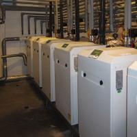cascade of six heat pumps Sinclair S-Therm+